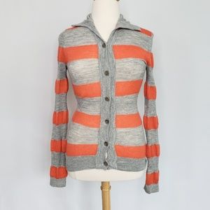 Alessandro Dell'Acqua Orange & Gray Sweater Sz 14